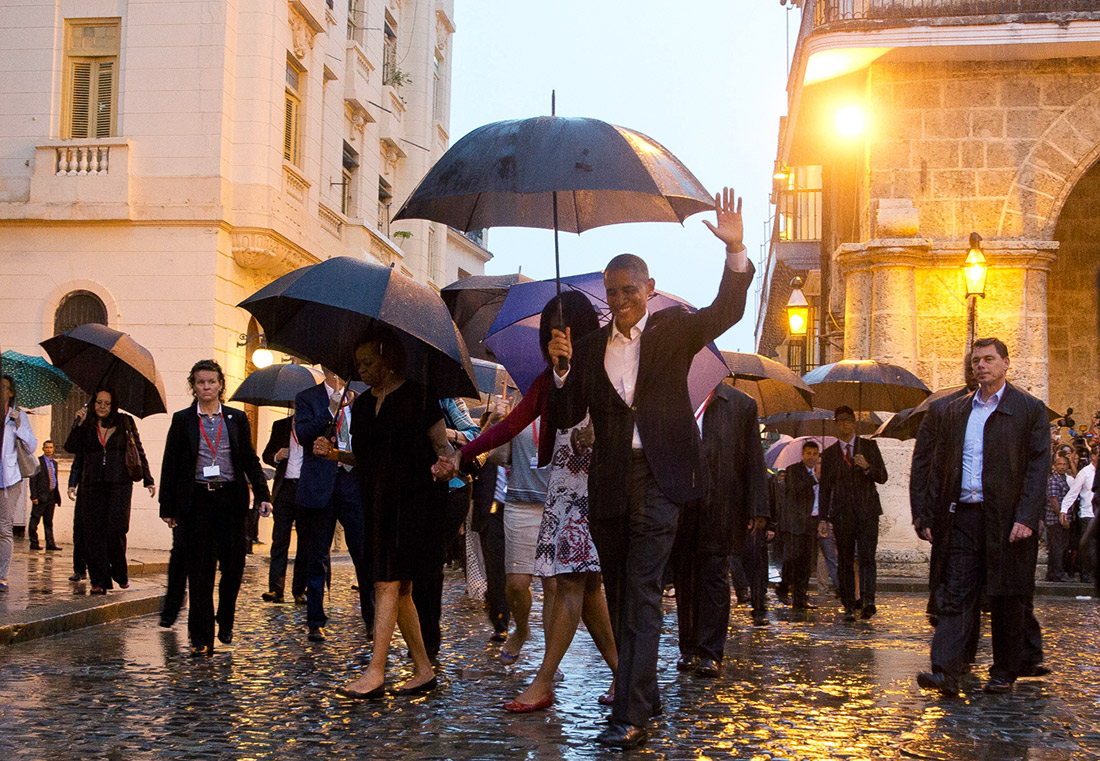 President Obama historic visit in Old Havana
