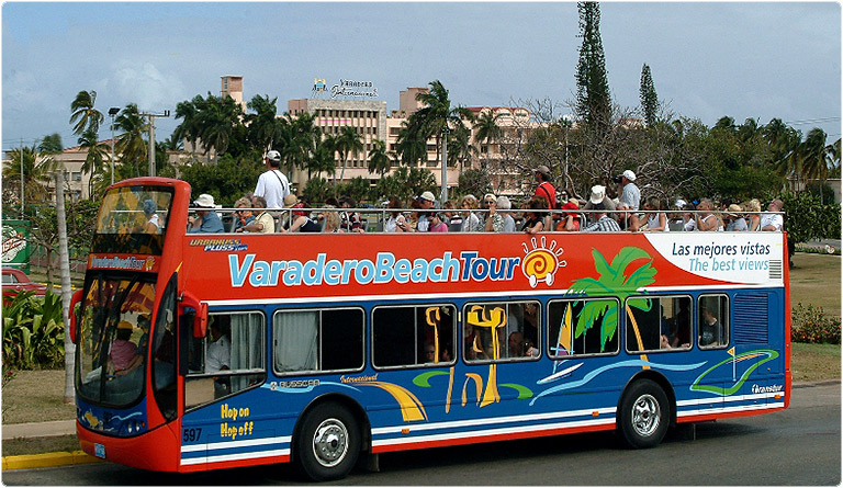 Tourist Bus Tour in Varadero